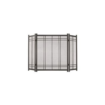 Pleasant Hearth Preston 3 Panel Steel Fireplace Screen