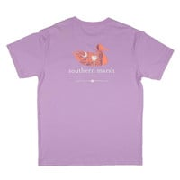 Authentic South Carolina Heritage Tee in Wharf Purple by Southern Marsh