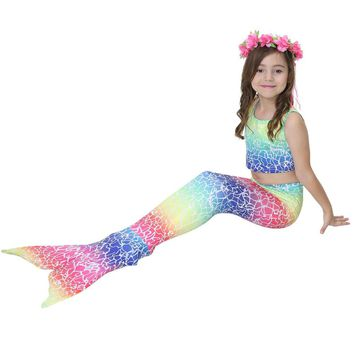 2018 Summer Mermaid Colorful Swim Suit With Swim Tails Pre Order