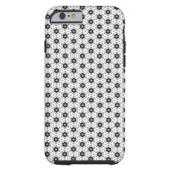 Elegant Geometric Ornament Pattern Tough iPhone 6 Case