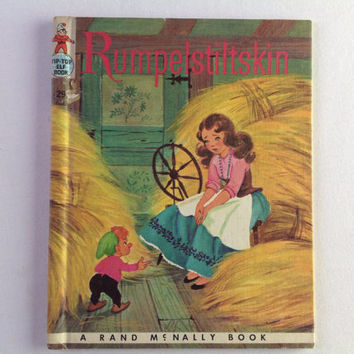 Vintage Rumpelstiltskin Book Rand McNally 1959 Tip Top Elf Book