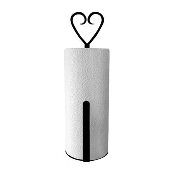 Heart - Paper Towel Holder Holder Vertical Wall Mount