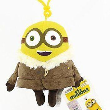Minions Movie: Ice Village Bob Backpack Plush Backpack Clip Keychain