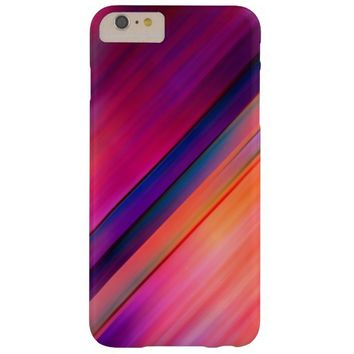 modern colorful abstract art purple and blue barely there iPhone 6 plus case