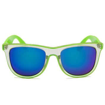 Summer Break Sunglasses - Lime Green