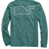 Vineyard Vines - Vintage Whale Heathered Pocket Long Sleeve T-Shirt