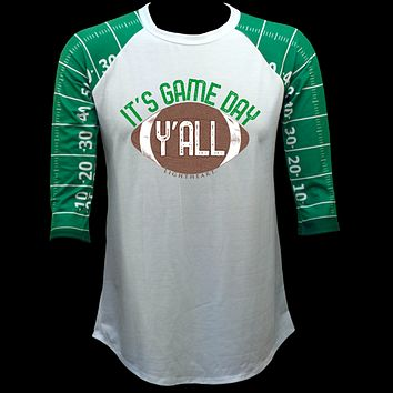 Couture Lightheart Its Game Day Football Raglan Long Sleeve T-Shirt