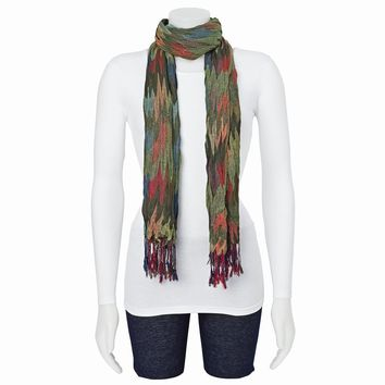 Multicolor Pashmina Fashion Scarf - Available in Green/Red/Teal/Blue