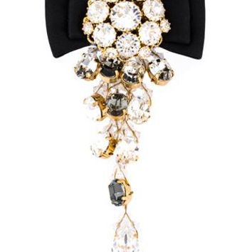 DOLCE & GABBANA   Embellished Silk Clip Earring   brownsfashion.com   The Finest Edit of Luxury Fashion   Clothes, Shoes, Bags and Accessories for Men & Women