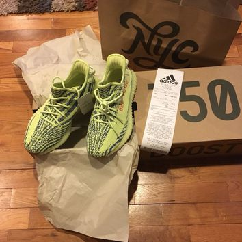 adidas yeezy boost 350 v2 size 8.5 semi frozen yellow