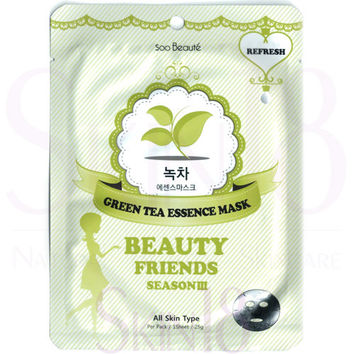 Soo Beauté Beauty Friends Season III Green Tea Essence Mask (Refresh)