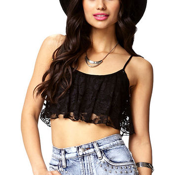 Black Strappy Cut Out Bralet Top