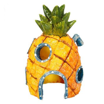 Cute Spongebob Squarepants Pineapple House Fish Tank Aquarium Ornament Home Free Shipping ASLT