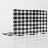 Sleepy Black and White Plaid Laptop & iPad Skin by RichCaspian