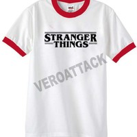 stranger things unisex ringer tshirt.available size S,M,L,XL,2XL,3XL