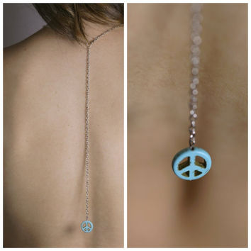 Peace backdrop necklace by BrielleBelle on Etsy