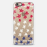 Red, White and Blue Stars (transparent) iPhone 6 case by Lisa Argyropoulos | Casetify