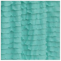 Ruffled Curtain Panel, Mint Green,  24 inches Tall by 52 Inches Wide