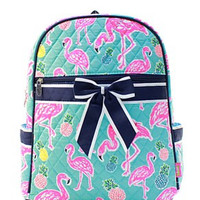 Flamingo Quilted Backpack - 2 Color Choices