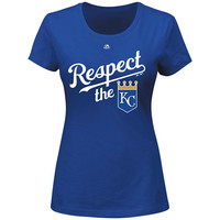Kansas City Royals Women's Respect the KC T-Shirt by Majestic Athletic - MLB.com Shop