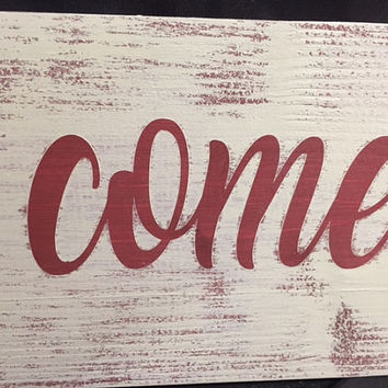 Ya'll Come Eat Country Kitchen Sign, Housewarming Gift, Gift for Her, Kitchen Decor, Vintage Sign, Southern Sign, Country Kitchen