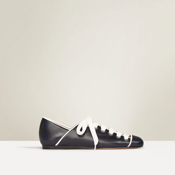 STUDIO FLAT LACE - UP LEATHER SHOES-Collection-ZARA WOMAN STUDIO-WOMAN | ZARA United Kingdom