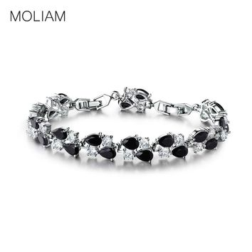 MOLIAM High Quality Classic Braclets for Women Double Layers AAA Cubic Zirconia Crystals Charm Bracelets & Bangles MLL122