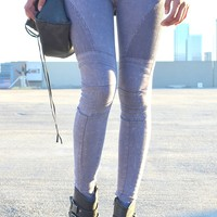 Biker Jean Wash Leggings | Shop Civilized
