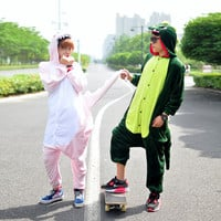 Dinosaur Cartoon Cute Funny pajamas Animal Onesuits Hoodies Costume Sleepwear women COSPLAY Party
