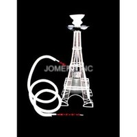 "White 18"" 1 Hose Eiffel Tower Hookah Special Edition Huka Pipe"