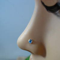 Nose and Tragus Stud Sterling Silver Dot 3mm