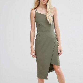 Oh My Love One Shoulder Midi Dress at asos.com