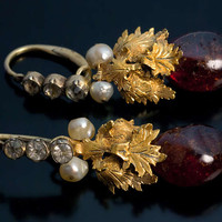 Russian 18th Century Amber Earrings