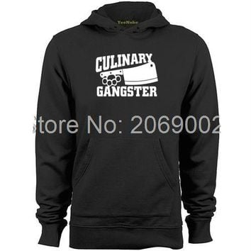 Culinary Gangster Chef Prep Cook Food Letter Printed Sweatshirt - Men's Hoodie Sweatshirt
