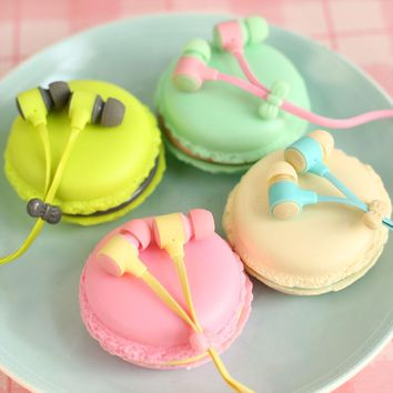 1pc 3.5mm Macarons Candy Color in-ear Earphones Birthday Gift for Samsung Xiaomi Cute Girls for MP3 Player MP4 Mobile Phone