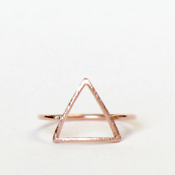 TriAngle Rose Gold Ring