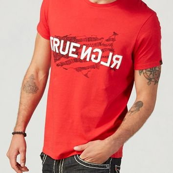 True Religion States Mens T-shirt - Ruby Red