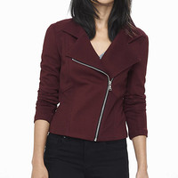 Textured Knit Moto Jacket from EXPRESS