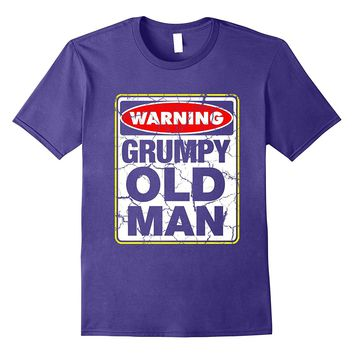 Warning Grumpy Old Man Grandpa Father's day Best gift