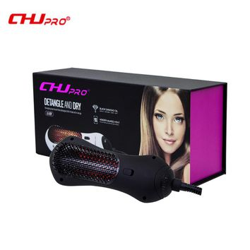 CHJ Hair Dryer Brush Infrared Professional Electric HairDryer Ionic Hair Styler Ceramic Hair Straightener Curler
