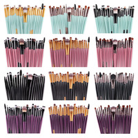 MAANGE 20/15pcs Eye Makeup Brushes Set Eyeshadow Blending Brush Powder Foundation Eyeshadading Eyebrow Lip Eyeliner Brush Set