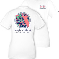 Simply Southern YOUTH Florida Tee - White