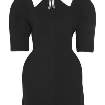 Marni - Cutout embellished bonded-jersey mini dress