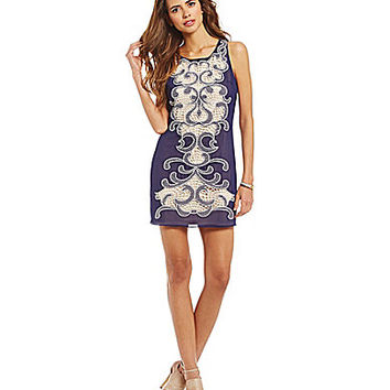 Gianni Bini Fan Fave Evelyn Embroidered Chiffon Dress | Dillards.com