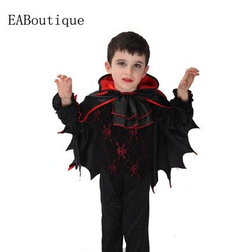 2016 Hot sale high quanlity Retail New Halloween vampire halloween costumes for kids boys costumes 3 pcs sets gift