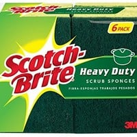 Scotch-Brite Heavy Duty Scrub Sponge, 6-Sponges/Pk, 2-Packs (12 Sponges Total)