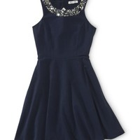 Jewel Neck A-Line Dress