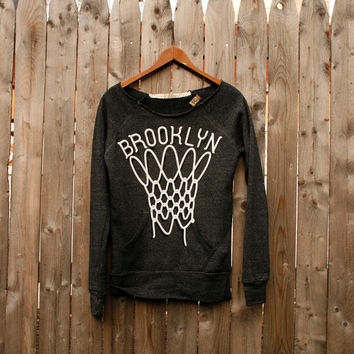 Women's Brooklyn Basketball scoop neck sweatshirt