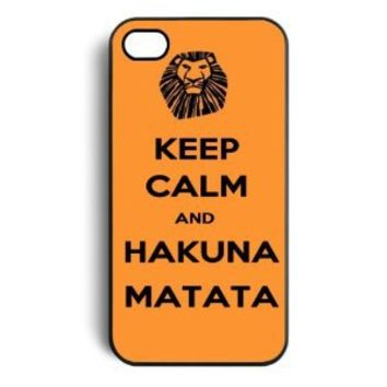 Keep Calm and Hakuna Matata Tribal Pattern Snap On Case Cover for Apple iPhone 4 iPhone 4s
