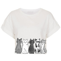 Cat Graphic Design Shirt